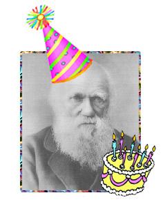 Darwin in a Birthday Hat