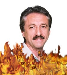 Ray Comfort in Flames