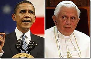 President Obama meets with Pope Benedict XVI