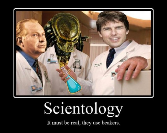 Scientology - It must be real, they use beakers
